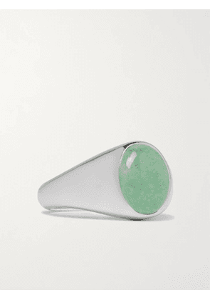 TOM WOOD - Sterling Silver and Aventurine Signet Ring - Men - Silver - 60