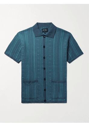 BEAMS PLUS - Cotton-Jacquard Shirt - Men - Blue - M