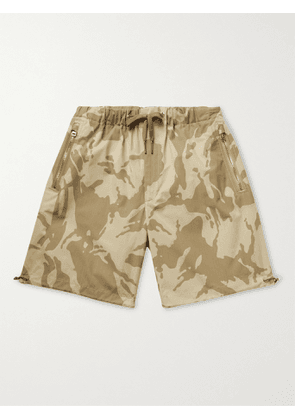 MONCLER - Camouflage-Print Cotton-Ripstop Drawstring Bermuda Shorts - Men - Neutrals - IT 48