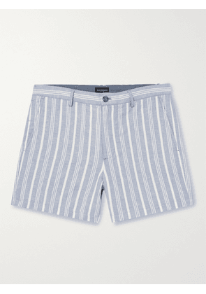 CLUB MONACO - Jax Striped Linen Shorts - Men - Blue - UK/US 30