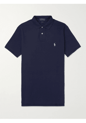 POLO RALPH LAUREN - Slim-Fit Cotton-Piqué Polo Shirt - Men - Blue - XS