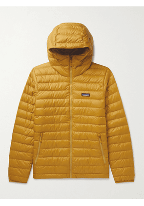 PATAGONIA - Quilted DWR-Coated Ripstop Shell Hooded Down Jacket - Men - Yellow - M