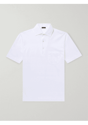 RUBINACCI - Cotton-Jersey Polo Shirt - Men - White - IT 46