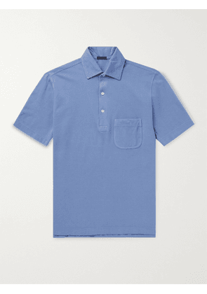 RUBINACCI - Cotton-Jersey Polo Shirt - Men - Blue - IT 46