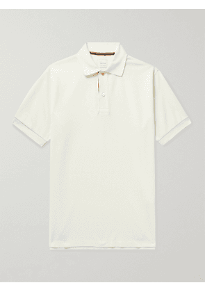PAUL SMITH - Cotton-Piqué Polo Shirt - Men - White - XS