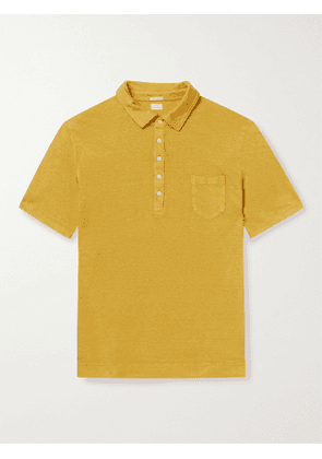 MASSIMO ALBA - Filicudi Slim-Fit Linen-Jersey Polo Shirt - Men - Yellow - L