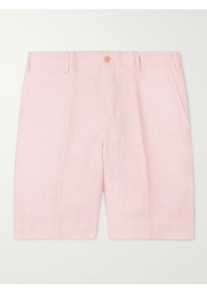 ANDERSON & SHEPPARD - Wide-Leg Linen Bermuda Shorts - Men - Pink - UK/US 36