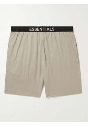 FEAR OF GOD ESSENTIALS - Mélange Cotton-Blend Jersey Shorts - Men - Brown - S