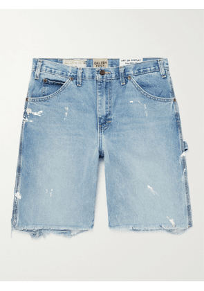 GALLERY DEPT. - Carpenter Paint-Splattered Distressed Denim Shorts - Men - Blue - UK/US 29