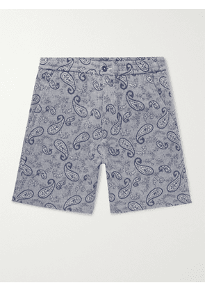 UNIVERSAL WORKS - Paisley Cotton-Jacquard Shorts - Men - Blue - UK/US 28