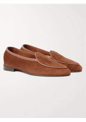 GEORGE CLEVERLEY - Hampton Leather-Trimmed Suede Loafers - Men - Brown - UK 7