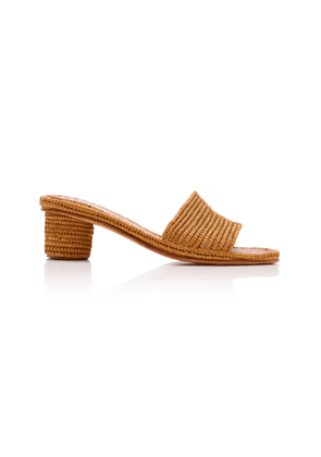Carrie Forbes - Women's Bou Raffia Heeled Mule  - Brown/neutral - Moda Operandi