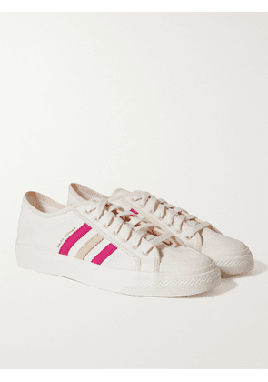 ADIDAS CONSORTIUM - Wales Bonner Nizza Lo Leather-Trimmed Canvas Sneakers - Men - White - UK 5