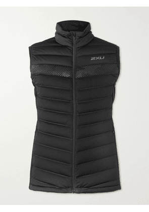 2XU - Ignition Insulation Quilted Stretch-Shell Down Gilet - Men - Black - S