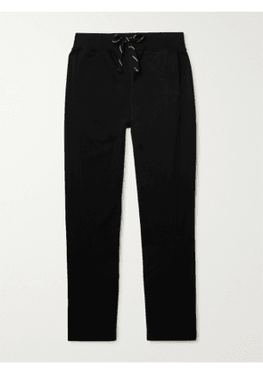 ERMENEGILDO ZEGNA - Tapered Cotton-Blend Jersey Sweatpants - Men - Black - XL