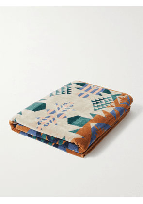 Pendleton - Cotton-Terry Jacquard Beach Towel - Men - Brown