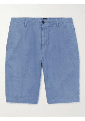HUGO BOSS - Linen Shorts - Men - Blue - UK/US 30