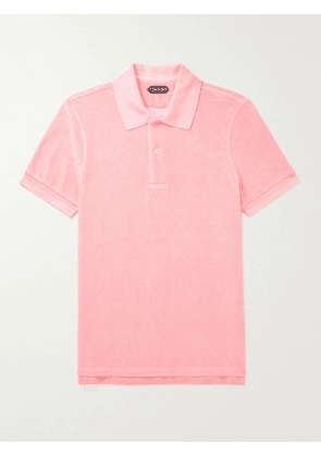TOM FORD - Cotton-Blend Terry Polo Shirt - Men - Pink - IT 46