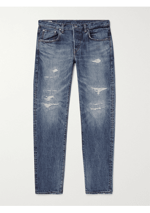EDWIN - Tapered Distressed Selvedge Denim Jeans - Men - Blue - UK/US 30