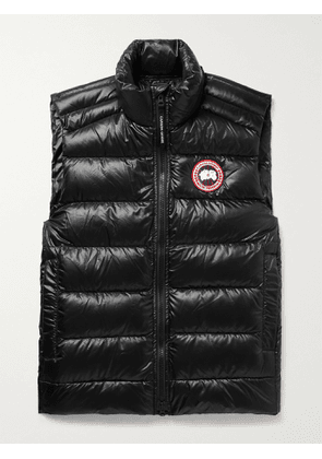 CANADA GOOSE - Crofton Slim-Fit Quilted Recycled Nylon-Ripstop Down Gilet - Men - Black - M