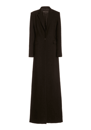 Brandon Maxwell - Women's Floor-Length Wool Silk Coat - Brown - Moda Operandi