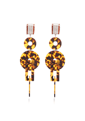 Brandon Maxwell - Women's x Kenneth Jay Lane Tortoiseshell Earrings - Brown - Moda Operandi
