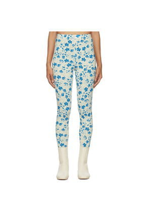 Pushbutton SSENSE Exclusive Yellow and Blue High Rise Leggings
