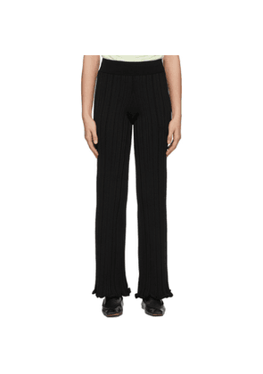 Acne Studios Black Ribbed Trousers