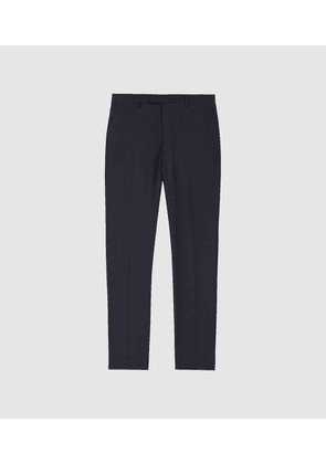 Reiss Pray - Slim Fit Travel Trousers in Navy, Mens, Size 28S