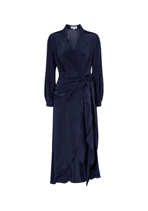 Stella silk wrap dress
