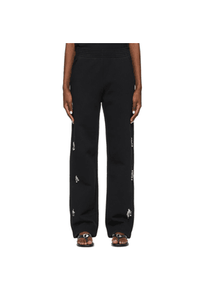 Givenchy Black Embroidered Jewel Lounge Pants