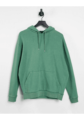 ASOS DESIGN co-ord oversized hoodie in green acid wash
