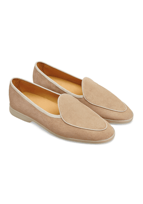 Oatmeal Glove Suede Sagan Stride Loafers