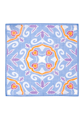 Blue & Purple Cotton & Linen Handkerchief