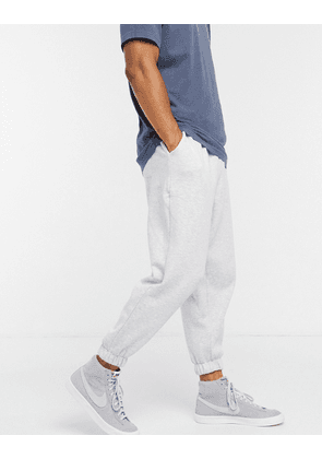 ASOS DESIGN oversized cropped joggers in white marl