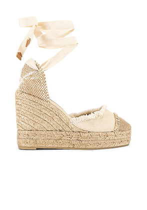 Castaner Catalina Wedge in Tan. Size 40, 41.
