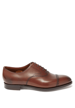 Edward Green - Berkeley Leather Oxford Shoes - Mens - Brown