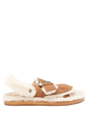 Álvaro - Shearling-lined Suede Sandals - Womens - Tan