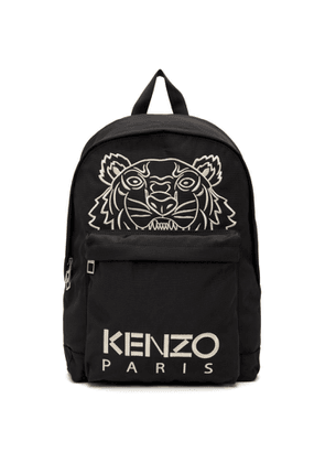 Kenzo Black Embroidered Kampus Tiger Backpack