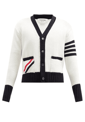 Thom Browne - Four Bar Cotton Cardigan - Mens - White
