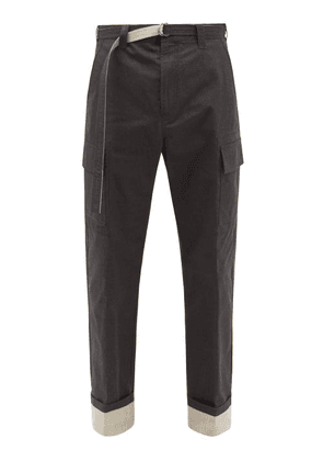 Craig Green - Belted Cotton-blend Cargo Trousers - Mens - Black