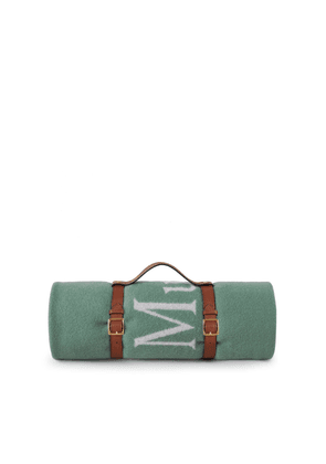 Mulberry Logo Throw Blanket With Leather Belt - Cambridge Green