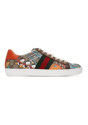 Gucci Brown Disney Edition Donald Duck GG Ace Sneakers