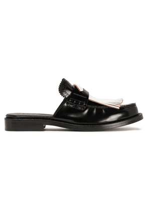 Burberry Fringed Leather Mules Woman Black Size 39