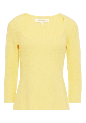 Chinti & Parker Ribbed Cotton-blend Terry Top Woman Pastel yellow Size XS