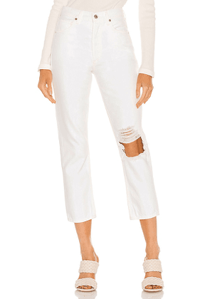 Citizens of Humanity Charlotte Crop High Rise Straight in White. Size 27, 29, 30, 31.