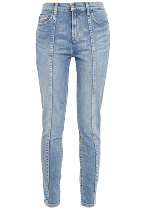 Current/elliott The Seamed High Waist Ankle Skinny High-rise Skinny Jeans Woman Mid denim Size 26