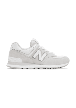 New Balance Grey and White 574 Core Sneakers