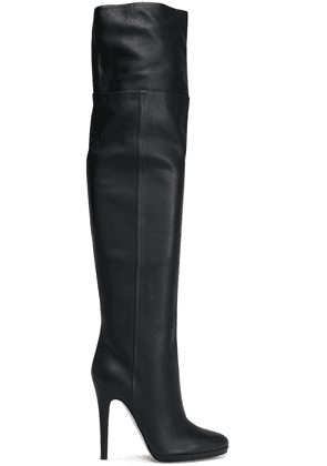 Jimmy Choo Giselle 120 Textured-leather Platform Over-the-knee Boots Woman Black Size 36