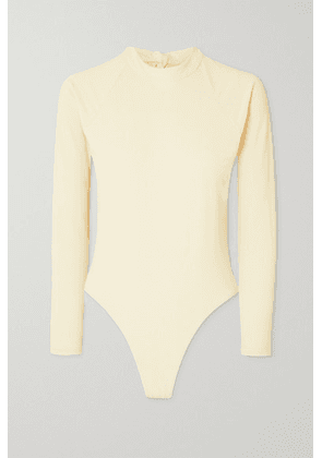 Abysse - Billie Open-back Ribbed Stretch-econyl Swimsuit - Cream